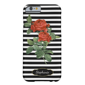 French Red Roses Vintage Botanical Barely There iPhone 6 Case