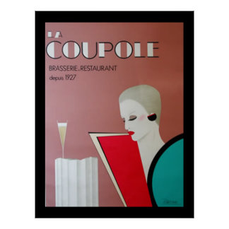 French Restaurant Vintage poster french