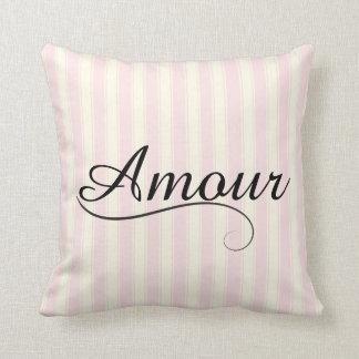 French Retro Amour Throw Pillow