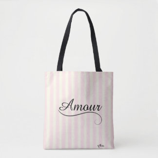 French Retro Amour Tote Bag
