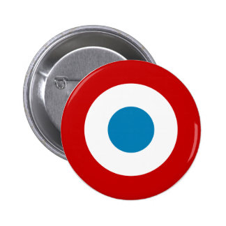French Revolution Roundel France Cocarde Tricolore 2 Inch Round Button