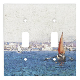 French Riviera Coast Ocean Light Switch Cover