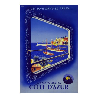 French Riviera Cote D'Azur Poster
