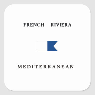 French Riviera France Alpha Dive Flag Stickers
