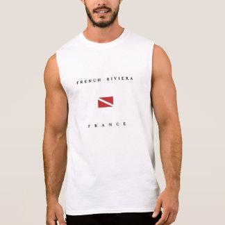 French Riviera France Scuba Dive Flag Sleeveless Shirt