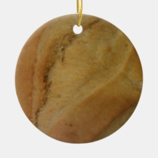 French roll texture round ceramic ornament