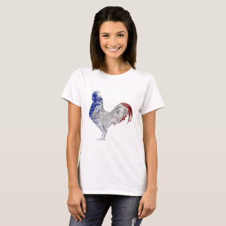 French rooster water colours flag Coq T-Shirt