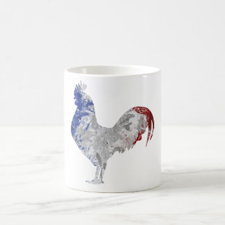 French rooster water colours flag mug coq