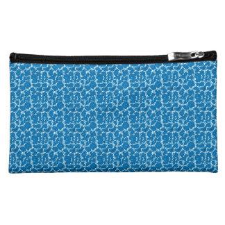 French_Rose_Crackle_Blue-Sueded_Bag-Multi Makeup Bag