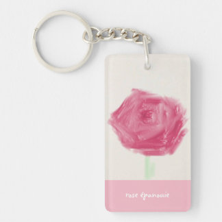 French rose keychain