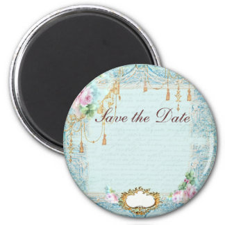 French roses n lace Save the Date Magnet