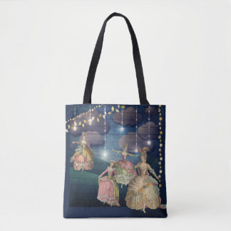French Royals Dancing Under the Twinkling Lights Tote Bag