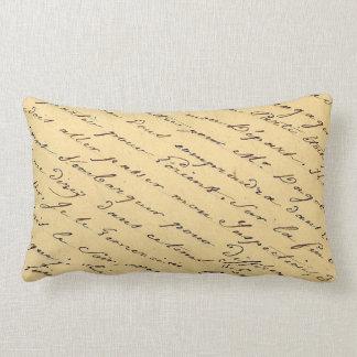 FRENCH SCRIPT EPHEMERA Pillow