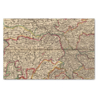 French settlements and forests tissue paper