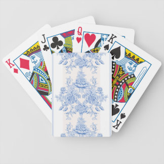 French,shabby chic, vintage,pale blue,white,chic, bicycle playing cards