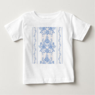 French,shabby chic, vintage,pale blue,white,countr baby T-Shirt