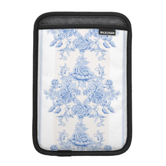 French,shabby chic, vintage,pale blue,white,countr iPad mini sleeve