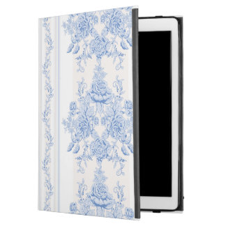 "French,shabby chic, vintage,pale blue,white,countr iPad pro 12.9"" case"