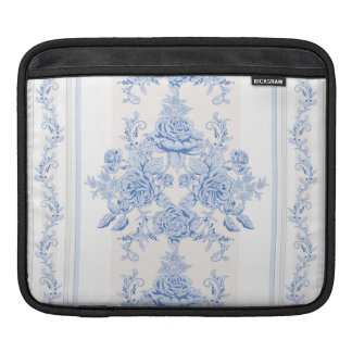 French,shabby chic, vintage,pale blue,white,countr iPad sleeve