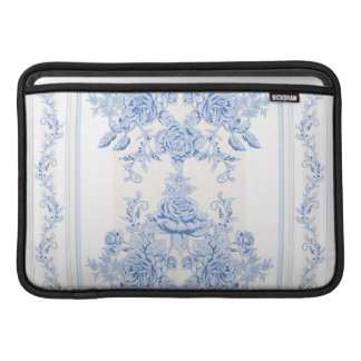 French,shabby chic, vintage,pale blue,white,countr MacBook sleeve
