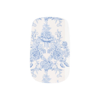 French,shabby chic, vintage,pale blue,white,countr minx nail art