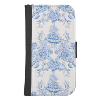 French,shabby chic, vintage,pale blue,white,countr samsung s4 wallet case