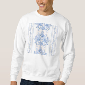 French,shabby chic, vintage,pale blue,white,countr sweatshirt