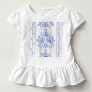 French,shabby chic, vintage,pale blue,white,countr toddler t-shirt