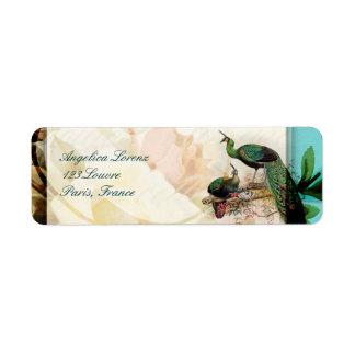 French Shabby chic Vintage Return Address Label