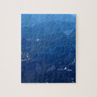French Sky Blue Abstract Low Polygon Background Jigsaw Puzzle