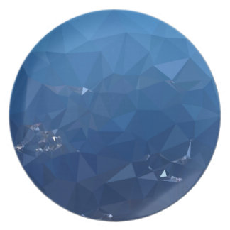 French Sky Blue Abstract Low Polygon Background Plate