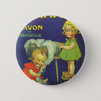 French soap label advertisement Children L'amande 2 Inch Round Button