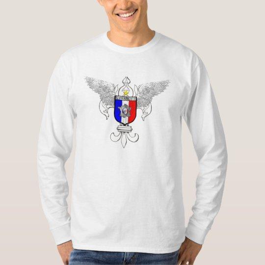 French Soccer Fleur de Lis French flag T-Shirt