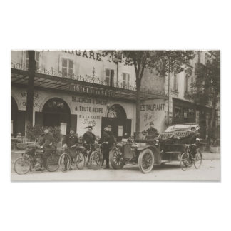 French soldiers, car, motorbike photo