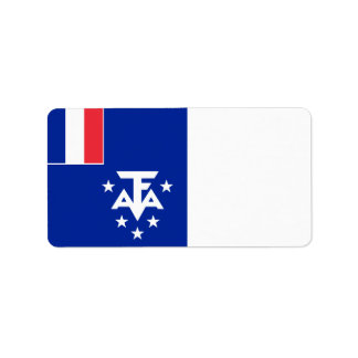 French Southern and Antarctic Lands Flag Label