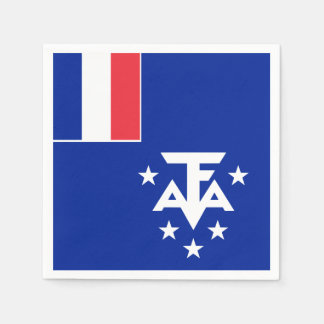 French Southern and Antarctic Lands Flag Paper Napkin