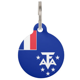 French Southern and Antarctic Lands Flag Pet ID Tag