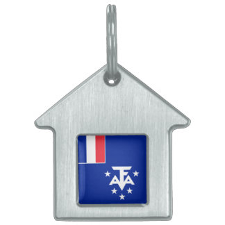 French Southern and Antarctic Lands Flag Pet Tag
