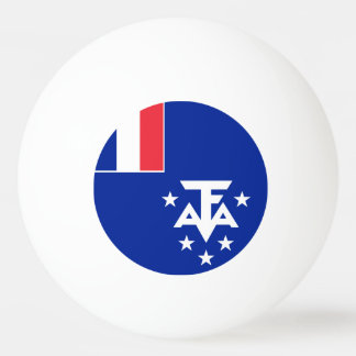 French Southern and Antarctic Lands Flag Ping Pong Ball