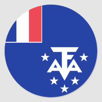 French Southern and Antarctic Lands Flag Round Sticker