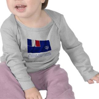 French Southern & Antarctic Lands Waving Flag Name Shirt