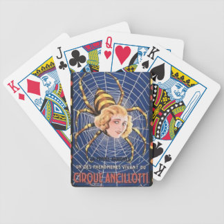 French Spider Girl Bicycle Playing Cards