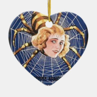 French Spider Girl Ceramic Ornament