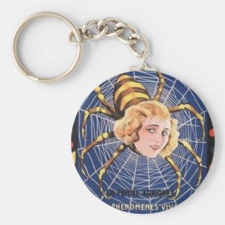 French Spider Girl Keychain
