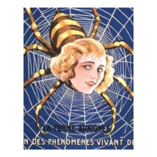 French Spider Girl Letterhead