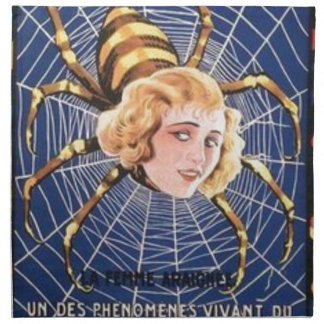 French Spider Girl Napkin