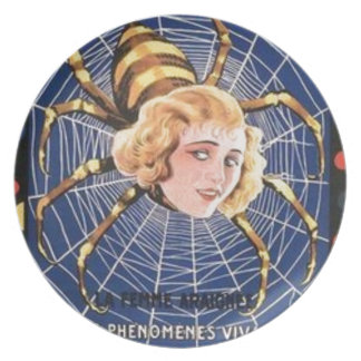 French Spider Girl Plate
