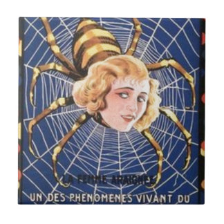 French Spider Girl Tile