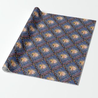 French Spider Girl Wrapping Paper