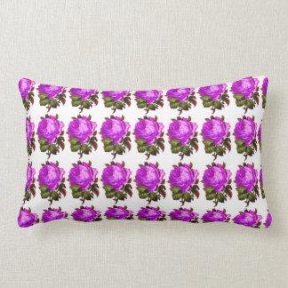 French_Spring_Floral_Violet-Rose_Lumbar_Accent Lumbar Pillow